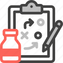 marketing, strategy, business, product strategy, planning, clipboard, bottle