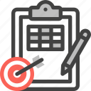 marketing, strategy, business, target, goal, planning, clipboard