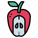 apple, diet, food, fruit icon