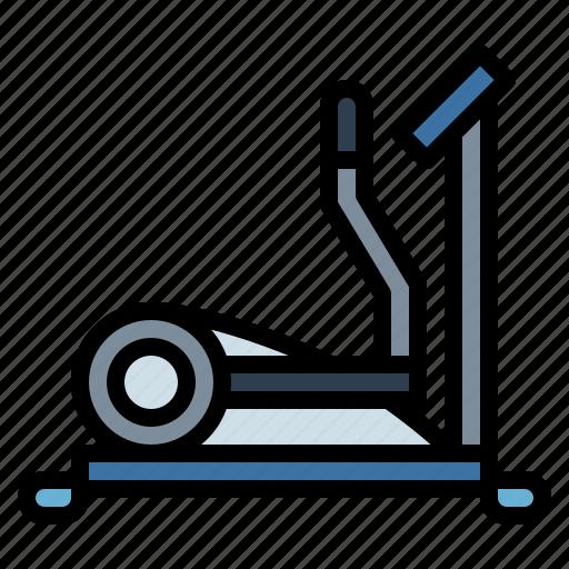 elliptical, exercise, run, training icon