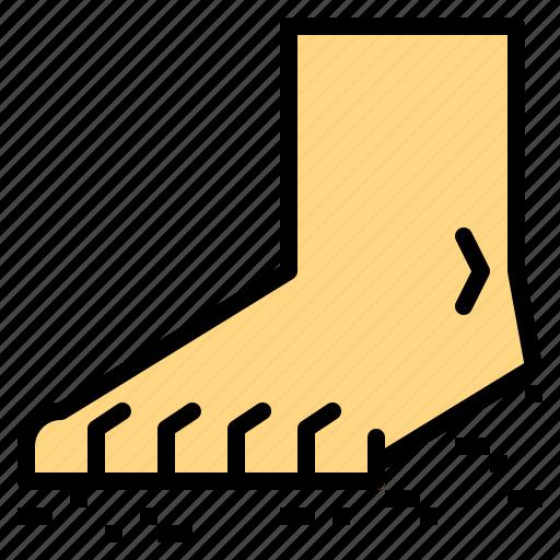 barefoot, foot, natural, running icon