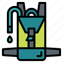 bag, hydration, pack, water icon