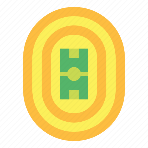 Athletics, lane, racetrack, track icon - Download on Iconfinder
