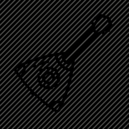 balalaika, guitar, instrument, music, russian, soviet, string icon