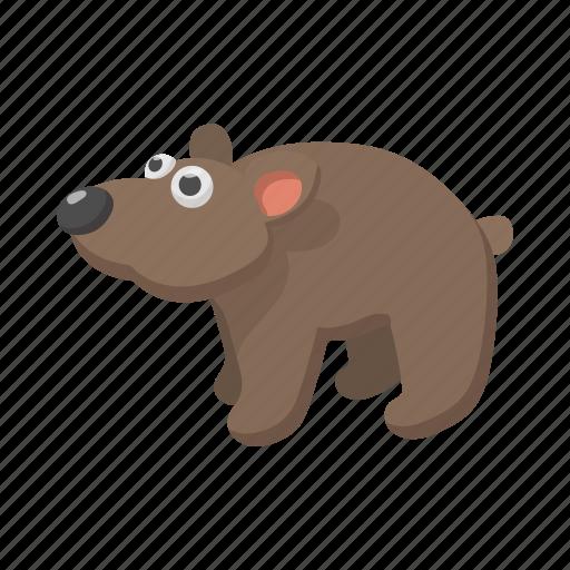 animal, bear, brown, cartoon, fur, mammal, wild icon