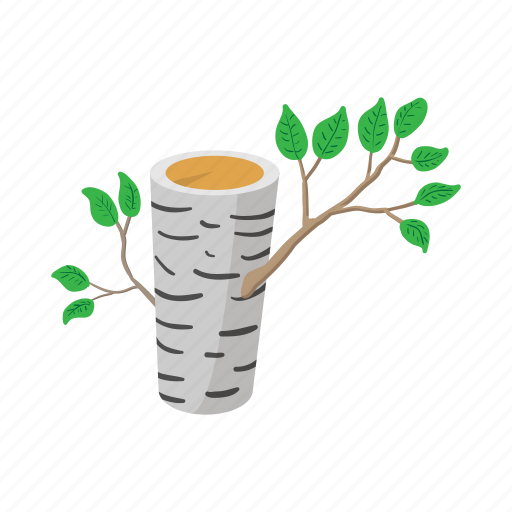 birch, cartoon, forest, nature, summer, tree, wood icon