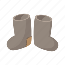 boot, cartoon, felt, pair, russia, winter, wool icon