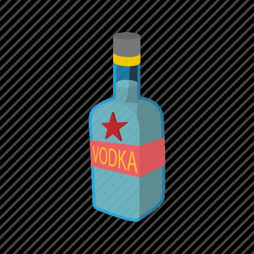 alcohol, beverage, bottle, cartoon, glass, liquid, vodka icon