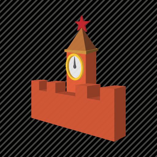 architecture, cartoon, clock, kremlin, russia, russian, spasskaya icon