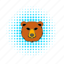 animal, bear, brown, comics, fur, mammal, wild icon