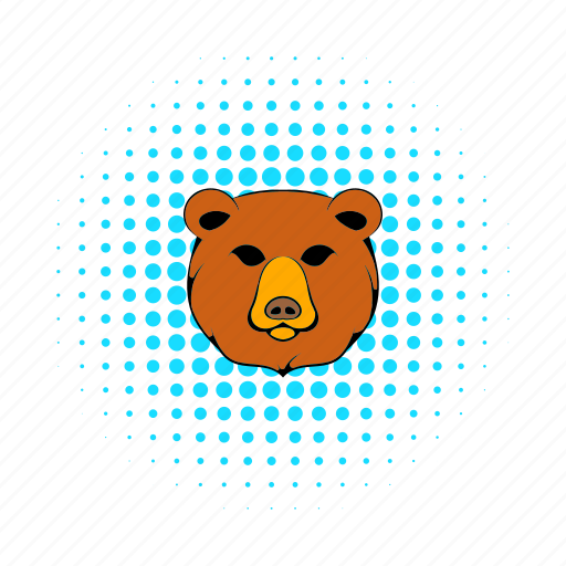 animal, bear, brown, comics, fur, mammal, wild icon