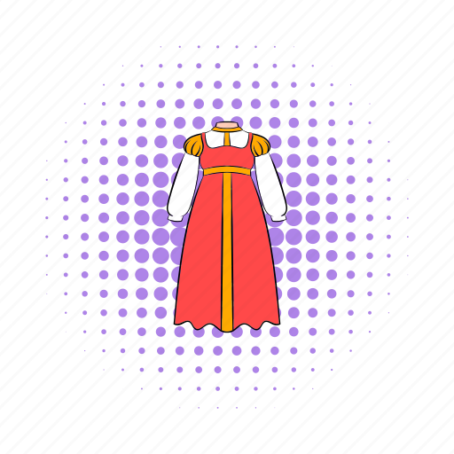clothing, comics, costume, dress, russian, sarafan, woman icon