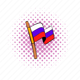 comics, country, flag, red, russia, russian, wind icon
