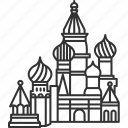 cathedral, saint, basil, moscow, landmark