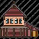 cabin, woods, cottage, house, shelter