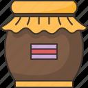honey, jar, sweet, dessert, ingredient