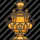 samovar, kettle, boil, teapot, water