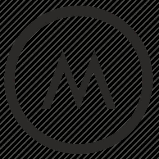 dot, m, metro, metropolitan, moscow, round, transport icon