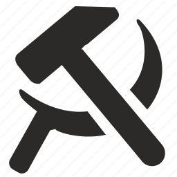 communism, hammer, politics, russia, sickle icon