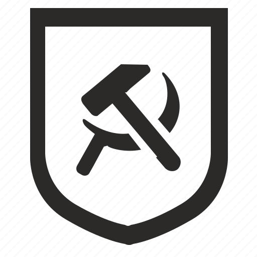 communism, politics, russia, shield, sign icon