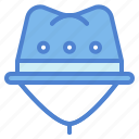 accesory, clothing, explorer, hat, protection icon