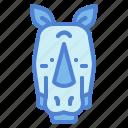 animals, front, head, rhino icon