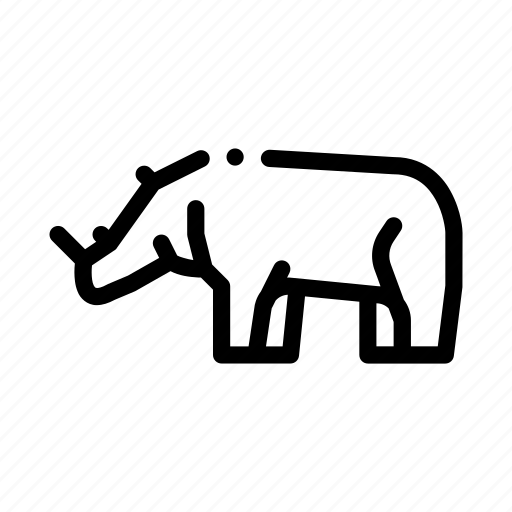 rhinoceros, safari, travel icon