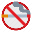 alert, cigarette, no, sign, smoke, stop, warning