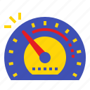 car, dashboard, meter, speed, speedometer icon