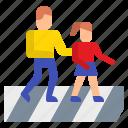 crosswalk, pedestrian, people, road, street, traffic, urban
