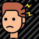 emotional, headache, sad, sadness, stress icon