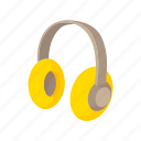 ear, equipment, headphones, loud, noise, protection, sound icon