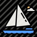 boat, yacht, ship, cruise, transportation