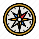 compass, navigation, map, location