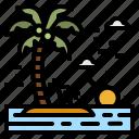 island, beach, sun, landscape, nature