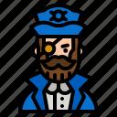 pirate, caucasian, eyepatch, user, avatar