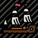 pirate, ship, transportation, transport, boat