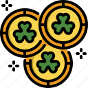 coin, gold, irish, money, rich, saint patrick, wealth icon