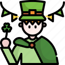 avatar, man, outfit, parade, people, saint patrick, user icon