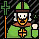 avatar, faith, man, people, pope, religion, saint patrick icon