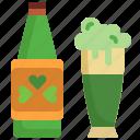 alcohol, beer, beverage, bottle, celebration, drink, saint patrick icon