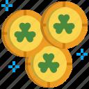 business, coin, gold, money, rich, saint patrick, wealth icon