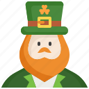 avatar, leprechaun, man, parade, people, saint patrick, user icon