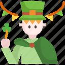 avatar, character, man, outfit, parade, saint patrick, user icon
