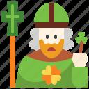 avatar, catholic, christian, man, people, pope, saint patrick icon