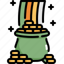 celebration, coin, gold, patrick, pot, rainbow, saint patricks day