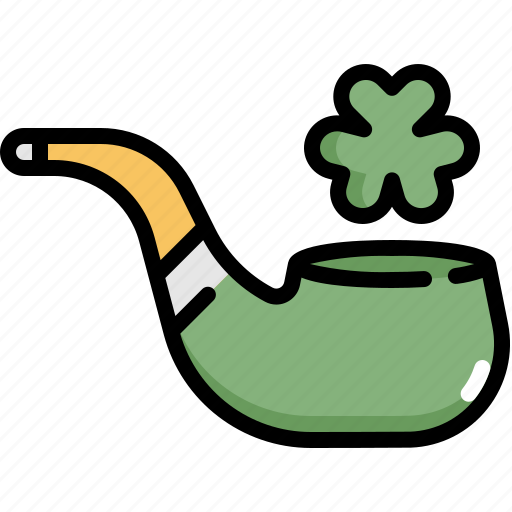 celebration, clover, patrick, pipe, saint patricks day, shamrock, smoke icon