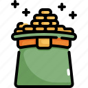 celebration, coin, gold, hat, money, patrick, saint patricks day icon
