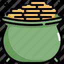 celebration, coin, gold, money, patrick, pot, saint patricks day icon