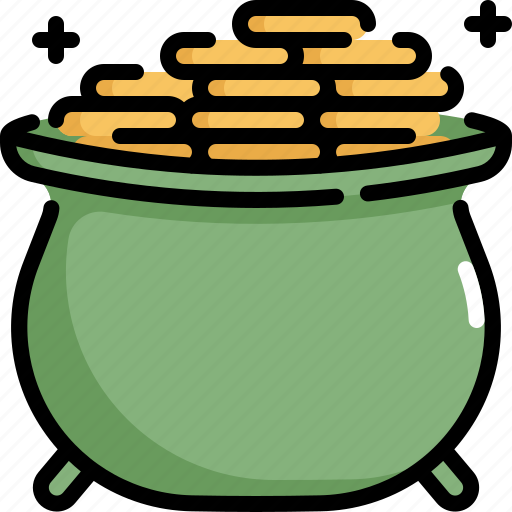 celebration, coin, gold, money, patrick, pot, saint patricks day icon